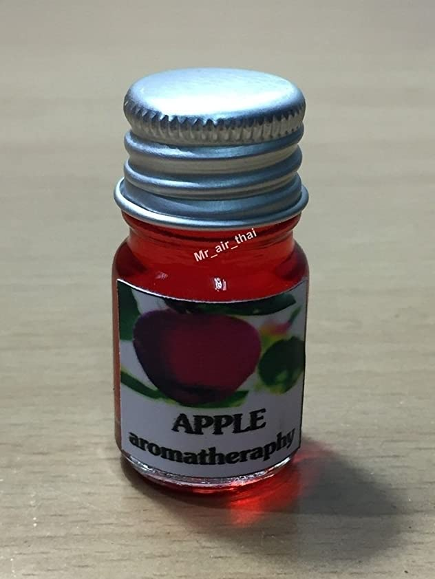 苦しむの間ではげ5ミリリットルアロマアップル(赤)フランクインセンスエッセンシャルオイルボトルアロマテラピーオイル自然自然5ml Aroma Apple (red) Frankincense Essential Oil Bottles Aromatherapy Oils natural nature