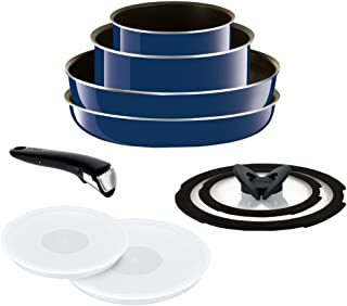 T-FAL frying pan 9-point set detachable handle Ingenio Neo Grand Bleu Premier set with a lid 9 gas fire heater dedicated L61491