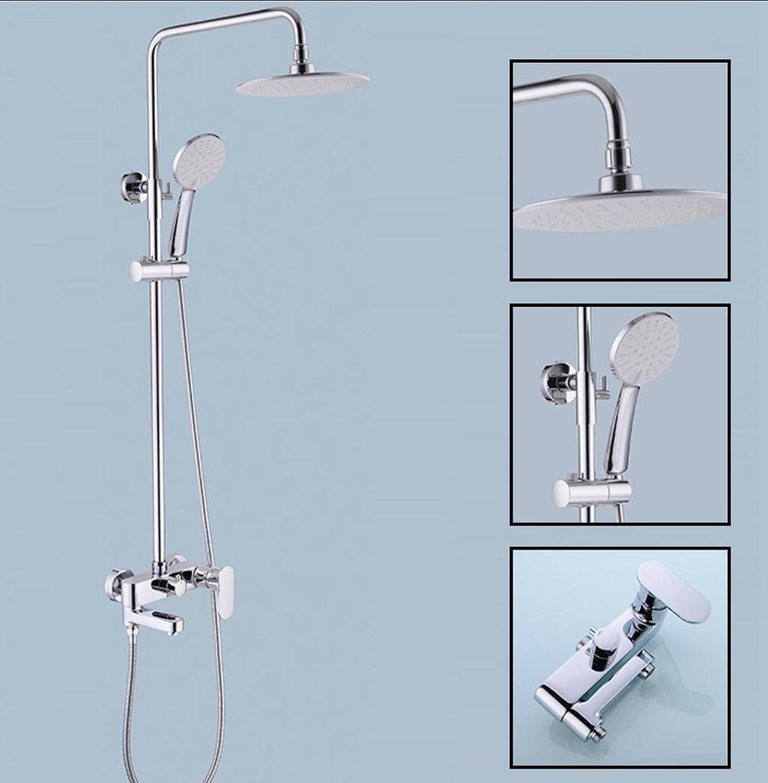 Caribou 3 - Einstellung aus massivem Messing Badezimmer Luxus Regen Mixer Dusche Combo Set Hhenverstellbar Bleifrei Dusche System, Chrom