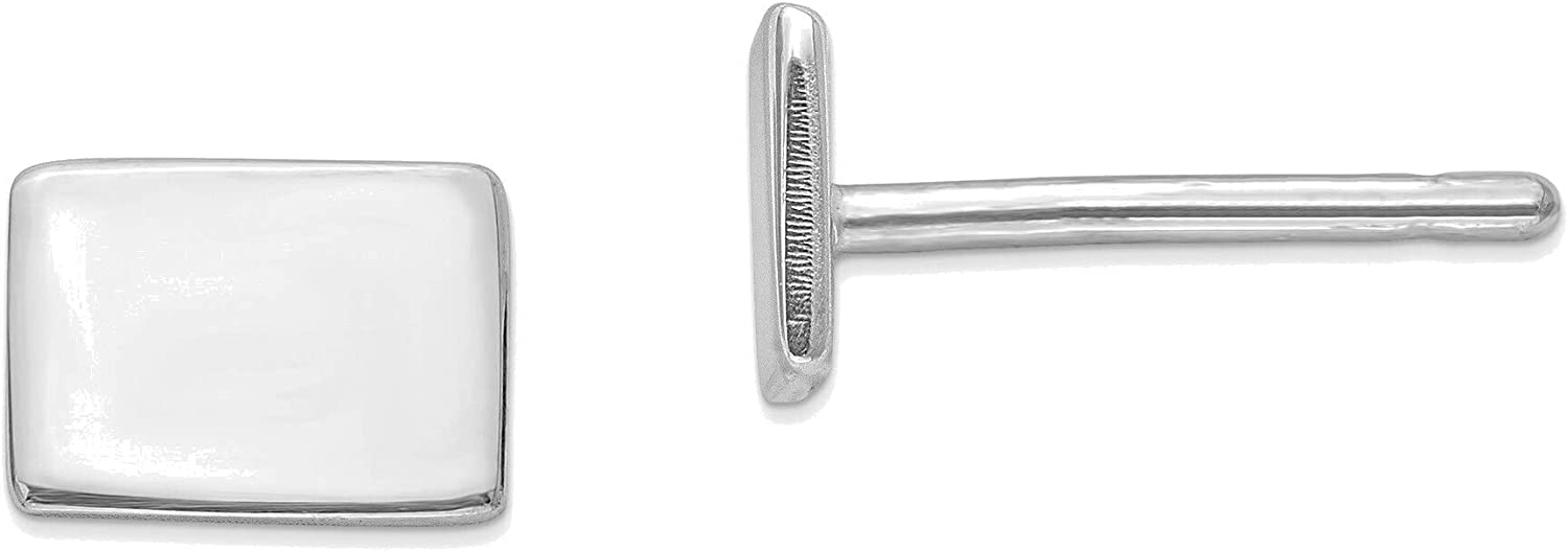 14kt White Gold CO Small State Earring