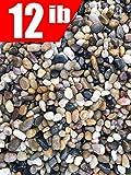 12 Pounds River Rock Stones, Natural Decorative Polished Mixed Pebbles Gravel,Outdoor Decorative Stones for Plant Aquariums, Landscaping, Vase Fillers