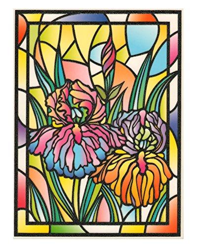dpr. Fensterbild Tiffany Optik Lilie Blumen Fensterdeko Fenstersticker