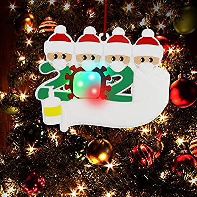 Christmas Decorations Indoor, 2020 Christmas Ornament Personalized Decorating Gifts Customized Party Decor for 1-7 Family Members