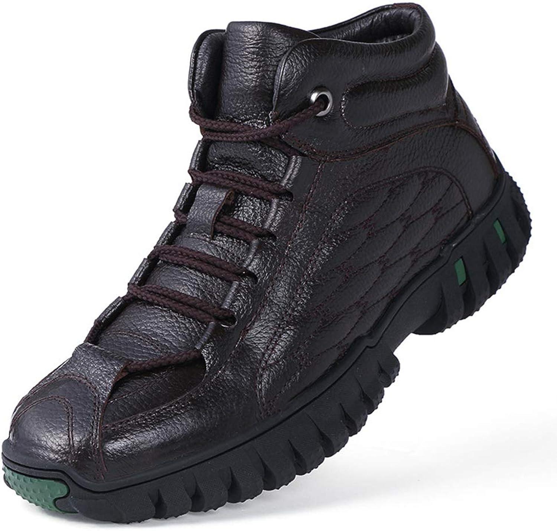 Mans High -Top Casual skor Plus sammet Keep Keep Keep Warm utomhus skor Water Non Slip Hiking skor, A,44  hög rabatt