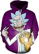 Lu&lu Boys Girls Funny Anime Hoodies Colorful Pullover Sweatshirt Pocketed Jacket Various Design S-6XL