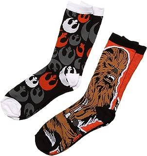 Star Wars Chewbacca/Rebel Alliance Logo 2-pack Adult Crew Socks