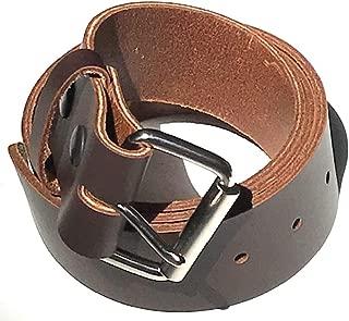 Mens Heavy Duty Dark Chocolate Brown Leather Belt 1 3/4