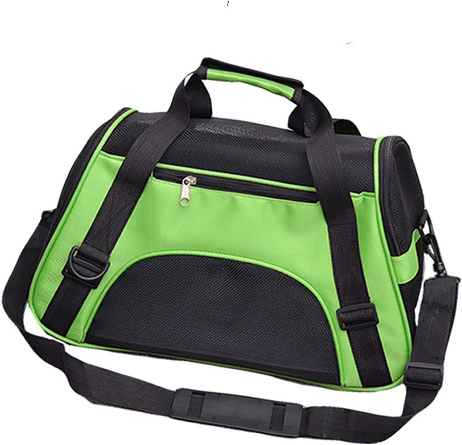 Portable Soft Pet Outdoor Travel Carrier Bag with Top Handle and Shoulder Strap Perfect for Medium Or Small Dog and Cat (S, Green)