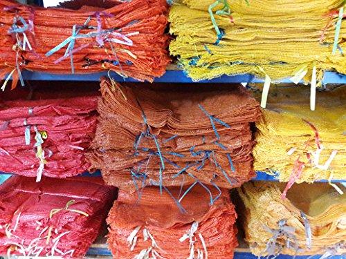 Bratpol Raschel Lot de 100 sacs de pommes de terre Rouge 40 x 63 cm (10-15 kg)