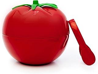 CECOA - Seau à glaçons en forme de tomate et pince à glaçons incluse, Seau à glace double paroi avec pince et couvercle 75...