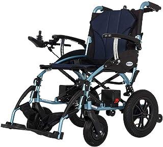 ZHANGYY Silla de Ruedas eléctrica Ligera portátil, Scooter médico Plegable Silla de Ruedas autopropulsada para Ancianos discapacitados discapacitados Silla de Ruedas eléctrica (Color: Cont
