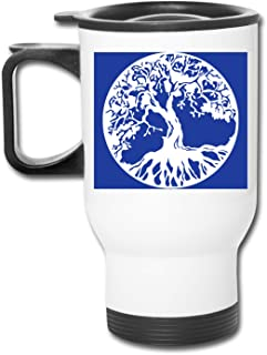 Art Tree Of Life Stainless Steel Travel Mug Double Wall Vacuum Insulated Large Coffee Mug Cup with Splash Proof Lid & Hand...