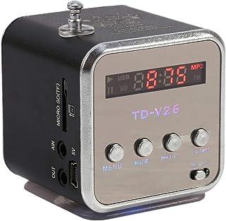 Stereo Mini Speaker Mini Speaker, Light-Weight Music Player Mini Music Player, FM Radio Stereo Excellent Signal Music Play...