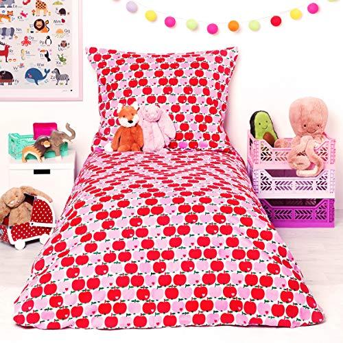 Bettwäsche Apfel/Rot pink Größe Standardgröße