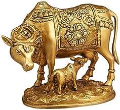 Nandi Cow and Calf Brass Idol Statue/Idol/Showpiece/Decorative Diwali Gift Kamdhenu Brass Item/Home Decor/Office Decorativ...