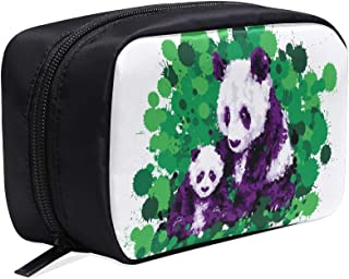 Funny And Touching Panda Wants To Hug Portable Travel Makeup Cosmetic Bags Organizer Multifunction Case Small Toiletry Bags For Women And Men Brushes Case