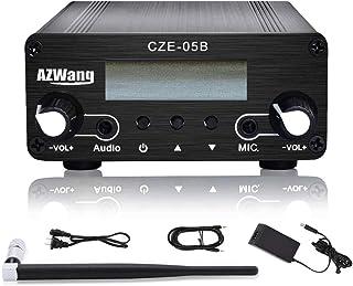 $119 » FM Transmitter for Church, FM Transmitter 0.5W 76MHz~108MHz LCD Broadcast Transmitter Mini Radio Stereo Station (Black)