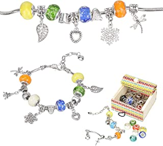 Sun studio charm bracelet kit DIY jewellery craft set girls craft pearl covered with silver chain jewellery girls for crafts multi-way