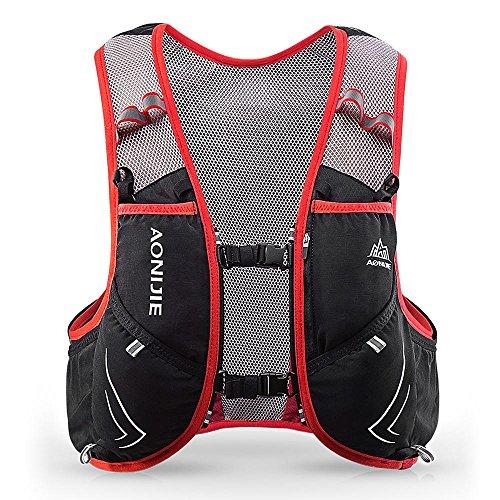 Lixada 5L Vejiga de Agua Mochila, Mochila Hidratación, Running Mochila, Impermeable y Transpirable, para Camping, Marathoner, Correr, Caminar, Escalada, Actividades al Aire Libre (M-L)