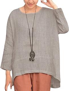 MIOIM ブラウス tシャツ レディース ゆったり 大きいサイズ 半袖 綿 無地 カットソー カジュアル 夏 トップス