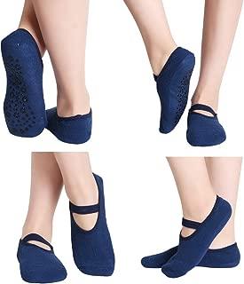 Home Slipper Yoga Socks for Women Ballet Pilates Low Cut Workout Non Slip Grips Socks