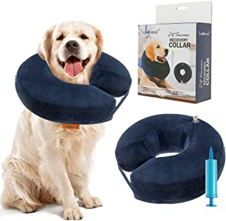 SCENEREAL Inflatable Recovery Collar for Dogs & Cats - Surgery Dog Collars E-Collar for Preventing Pets from Biting Licking Wound