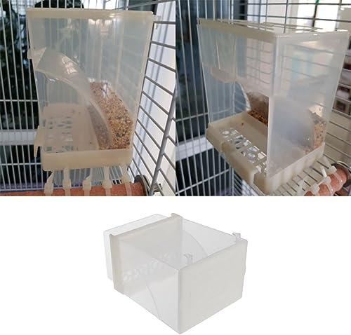 Keer123 Mangeoire automatique pour oiseaux - Distributeur de graines - Pour perruches, calopsittes, conures, aras, in...