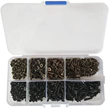 800pcs Antique Bronze/Black Flat Head Screw Carpenter's Small Screw Furniture Wooden Box Hardware Accessories