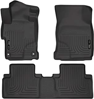 Husky Liners 99441 Fits 2014-15 Honda Civic - with 4 Doors Weatherbeater Front & 2nd Seat Floor Mats , Black