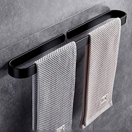 VIWIV Estante de baño Estante de baño Negro Toallero de una sola barra de baño colgante de la toalla de la barra de perforación libre anillo toalla anillo toallero barra de toalla