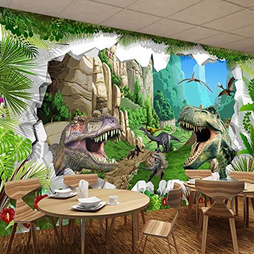 Photo Wallpaper - Wallpaper dinosaurus Cartoon woonkamer TV achtergrond foto achtergrond - kinderen - 350 x 256 cm