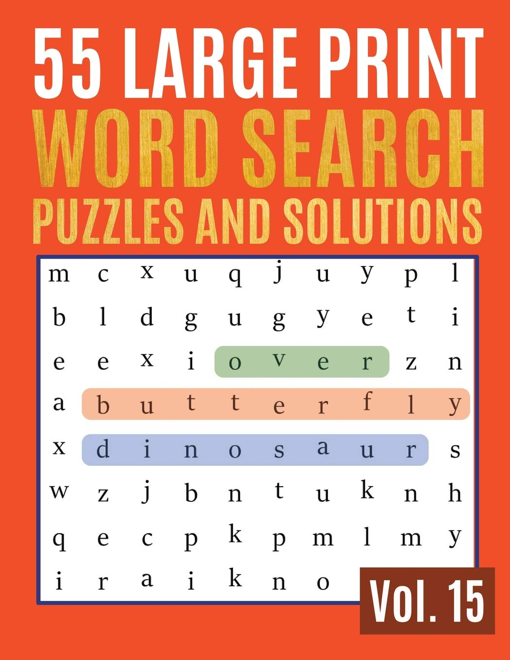Image Of55 Large Print Word Search Puzzles And Solutions: Activity Book For Adults And Kids / Word Search Puzzle: Wordsearch Puzzl...