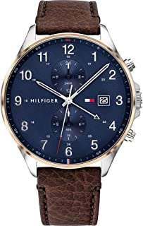 Tommy Hilfiger Men's Analogue Quartz Watch with Leather Strap 1791712