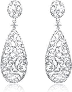 Italina Women's Ladies Teardrop Filigree Earrings Jewelry Earrings Fashion