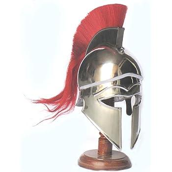 Stunning Maximus Roman Mini Gladiator Helmet /& Wood Display Stand Spartan//Armour