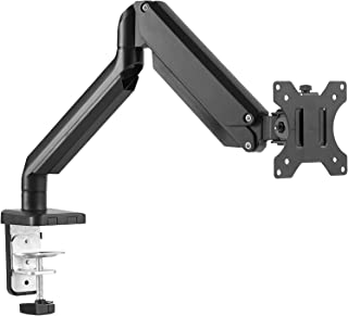 EleTab Single Monitor Desk Mount Stand - Articulating Full Motion Swivel Gas Spring Monitor VESA Arm Fits for Computer Monitor 17 to 32 inches, Holds up to 17.6 lbs