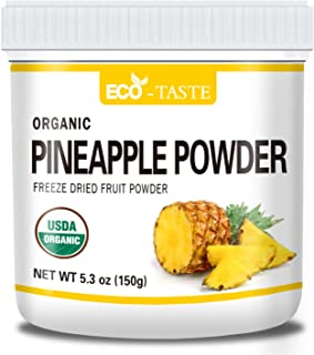 Sponsored Ad - Organic Pineapple Powder, 5.3oz(150g), Pure and Raw, No Additives or Fillers, NO GMO