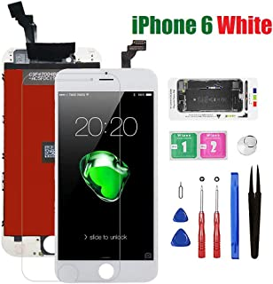 for iPhone 6 Screen Replacement, Bsz4uov 3D Touch LCD Display Touch Digitizer Screen Replacement for A1549, A1586, A1589 with Magnetic Screw Mat,Repair Tools,Screen Protector (6-4.7inch-White)