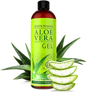 Aloe Vera Gel - 99% Organic, Big 12 oz - NO XANTHAN, so it Absorbs Rapidly with No Sticky Residue - made fr...