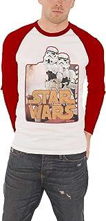 تي شيرت حرب النجوم للرجال Stormtroopers Force Awakens قميص البيسبول الرسمي