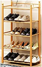 XDDDX Bamboo Wood Shoe Rack Entryway Standing Shoe Shelf Storage Organizer for Living Room Closet