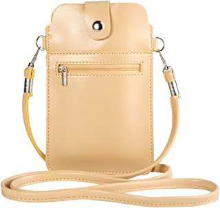 Women's PU Leather Small Wallet Purse Cellphone Crossbody Bag for Apple iPhone XR/XS Max / 8 7 Plus/HTC Desire 12+ / U12+ / Huawei P20 Pro/Mate 10 / Nokia 7 Plus 2.1 6 Beige