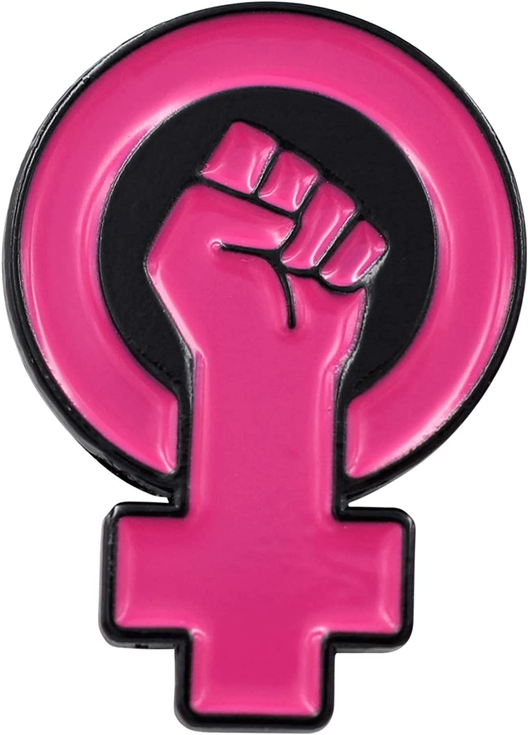 REAL SIC Women's Power Enamel Pin - Raised Feminist Fist Protest Pride Lapel Pin for Jackets, Hats, Backpacks, Bag & Tops