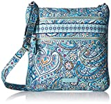 Vera Bradley Women's Signature Cotton Iconic Triple Zip Hipster Daisy Dot Paisley Crossbody