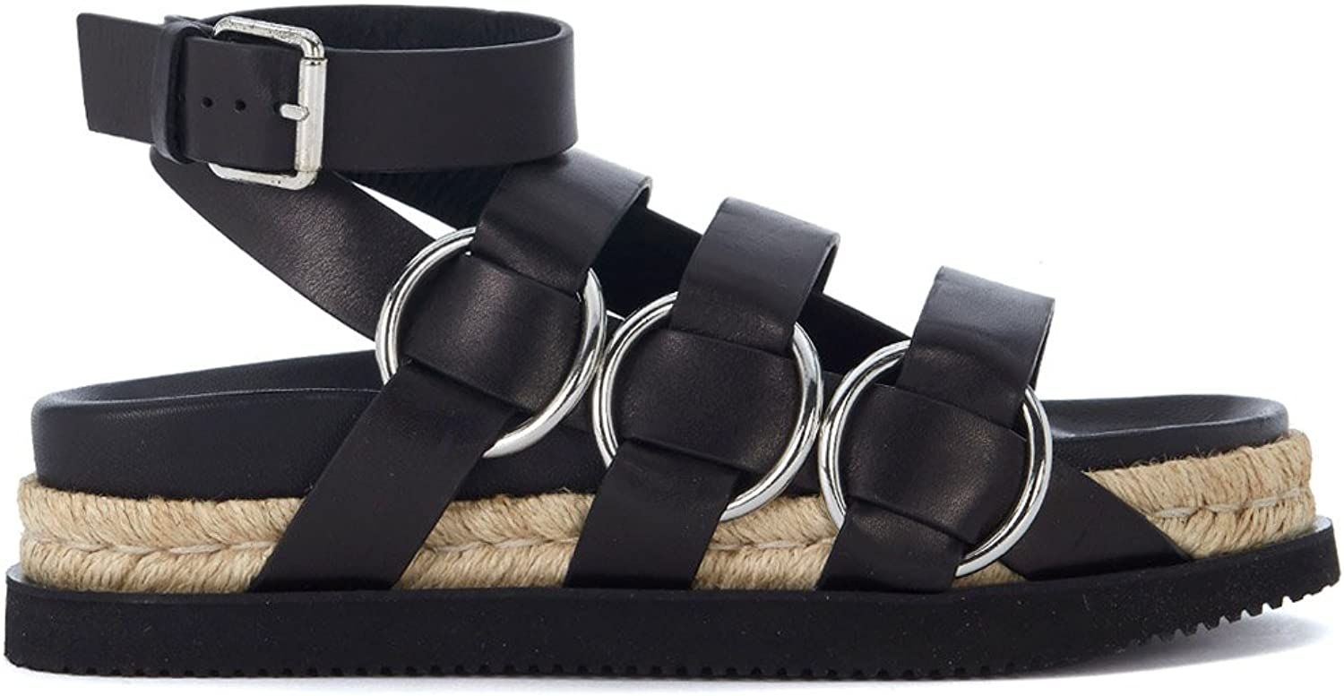 Alexander Wang Woman's Bess Black Leather Sandals