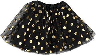 Jastore Baby Girls' Polka Dot Tutu Glitter Ballet Triple Layer Tulle Dance Skirt