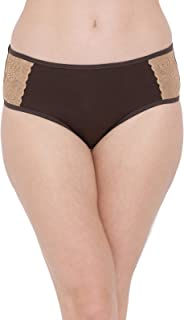 Clovia Women's Mid Waist Hipster Panty with Lace Panels