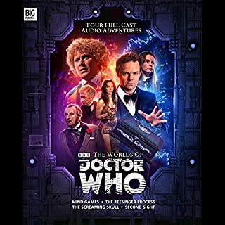 Doctor Who - The Worlds of Doctor Who                   By:                                                                                                                                 Justin Richards,                                                                                        Nick Wallace,                                                                                        Jonathan Morris                               Narrated by:                                                                                                                                 Colin Baker,                                                                                        Louise Jameson,                                                                                        Lalla Ward,                   and others                 Length: 4 hrs and 32 mins     22 ratings     Overall 4.7