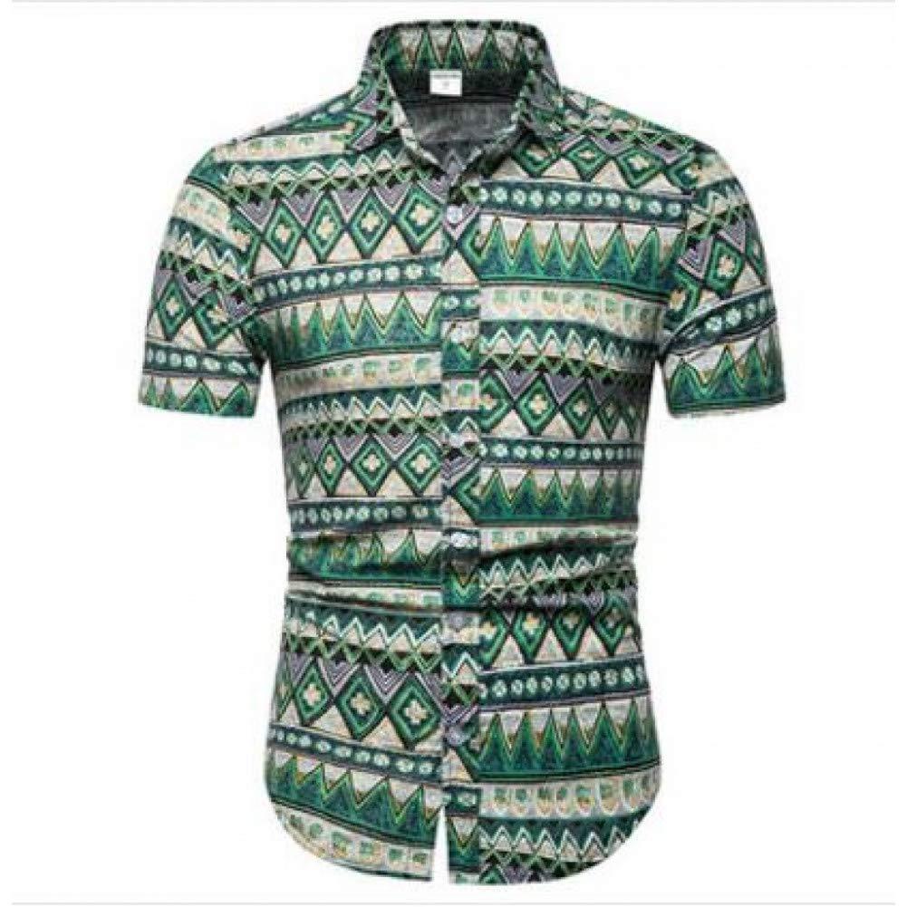 GKKYU Grandes tamaños 5XL Camisas Casuales para Hombre Camisa Hawaiana de Manga Corta con Corte Ajustado y con Varios Patrones Hombre Ropa Color: Amazon.es: Deportes y aire libre