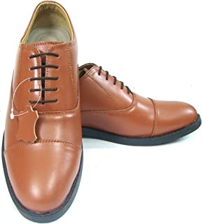 ASM Police Tan Oxford Dress Leather Uniform Shoes with TPR (Thermo Plastic Rubber) Sole,Leather Insole, Fully Leather Lining and PU Foot pad for Optimum Comfort for Men. Article 106PO